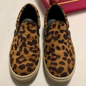 Candies Leopard print slip on sneakers